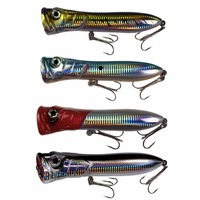 QUALYQUALY Popper Fishing Lure 3.7oz 7in Saltwater GT Offshore Big Game Top Water Tuna Lures Heavy Duty Hare Lures Baits|lure bait|popper fishing|fishing lure -