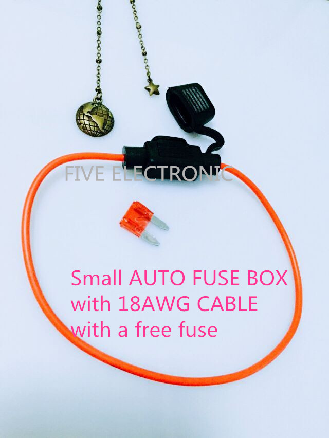 US $0.35 |S#AUTO FUSE BOX With 16AWG/18AWG CABLE with a Free FUSE. on