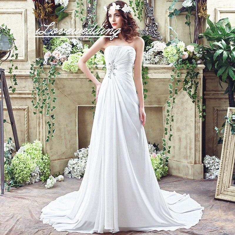 A Line Simple Wedding Dresses: ILoveWedding Simple Beach Wedding Dresses In Stock 2016