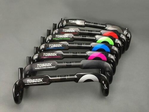TOSEEK 31,8*400/420/440 мм велосипед руль велосипеда дороги Гонки ручка изогнута бар капли углеродного волокна Руль 7 цветов