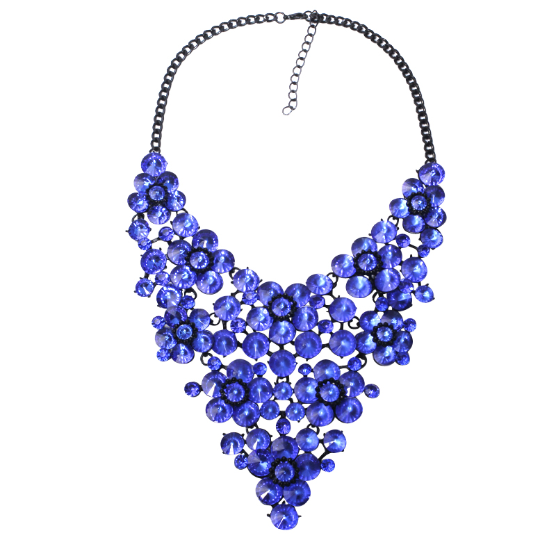 9 colors good quality full crystal fashion necklace collar ...