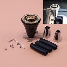 цена на Free Shipping Car Styling Modified Crystal Black Gear Shift Knob Gold Crown Logo Universal Auto Car Racing Manual Shift Knob