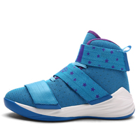 Basketball men's couple women's basketball shoes LBJ boots non slip damping mesh breathable sports student shoes