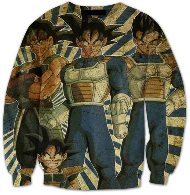 Dragon Ball Z Super Saiyan 3d Print Sweats Women Men Hoodie