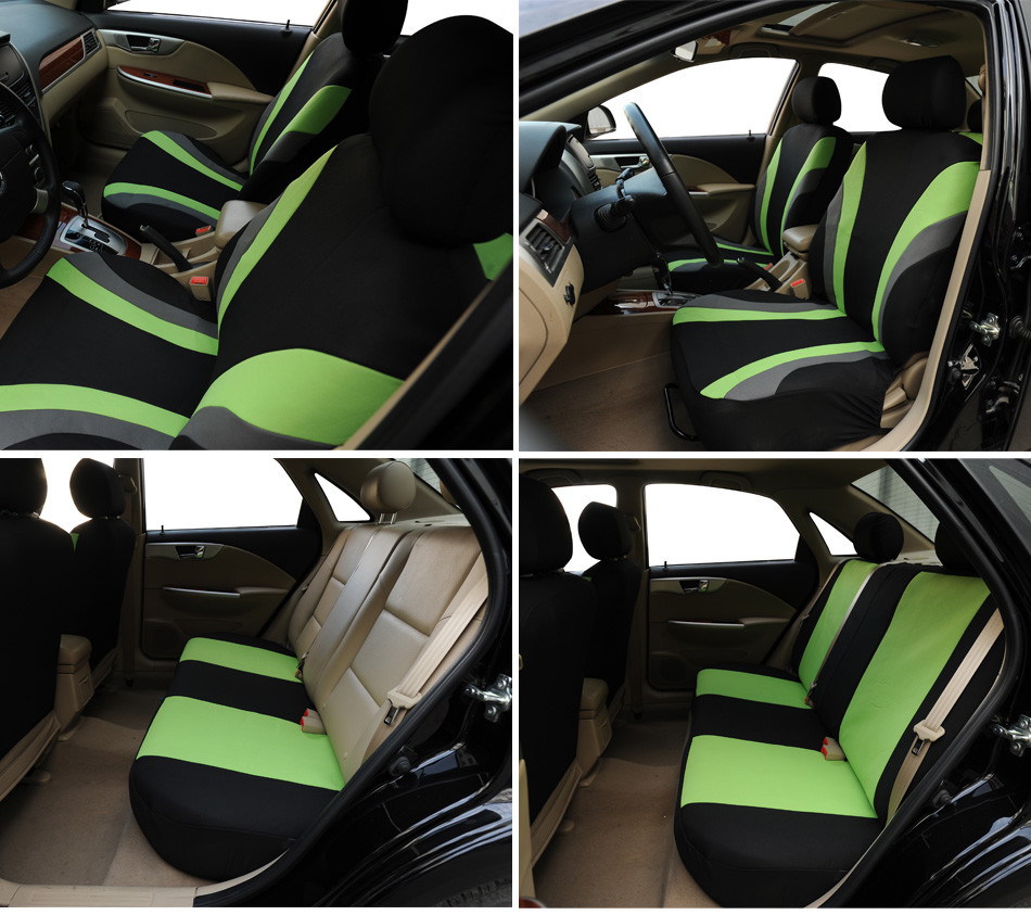 Universal Car Seat Cover Set 9Pcs Seat Covers Front Seat Back Seat Headrest Cover Polyester 3 Styles Optional in Automobiles Seat Covers from Automobiles Motorcycles