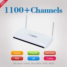 Leadcool Android TV Set Top Box Qhdtv 1100 + Французский Арабский Английский Язык ВЕЛИКОБРИТАНИЯ Италия Германия Спорт Iptv Каналов Сми плеер