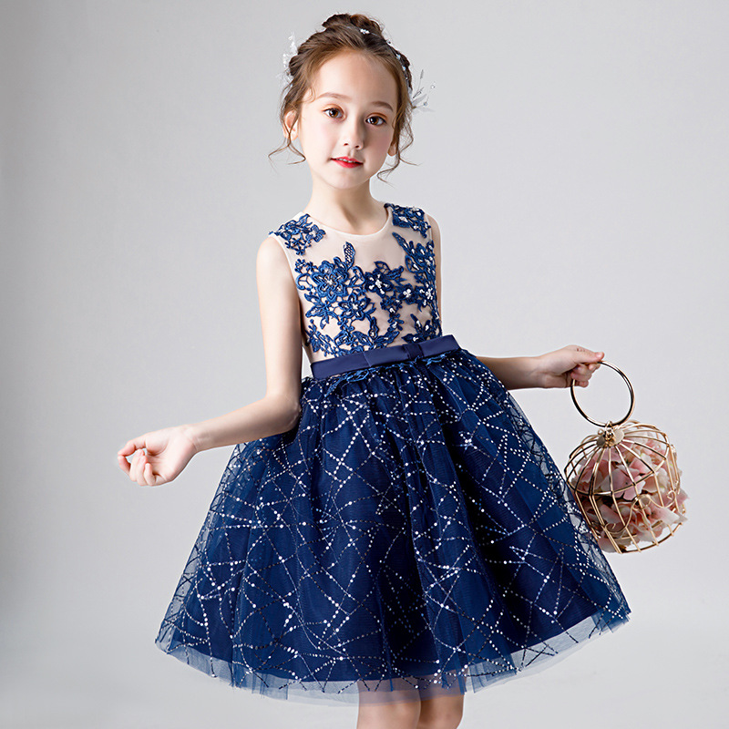 Children's   flower     girl     dresses   o neck first comunion   dresses   o neck party prom gowns vestido de daminha