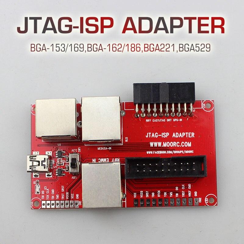 Цена за Новый JTAG Z3X ЛЕГКИЙ JTAG ISP Адаптер ВСЕ В 1 Для RIFF PRO MEDUSA JTAG EMMC E-MATE КОРОБКА ATF BOX