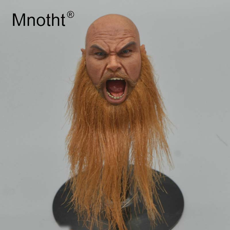 Pirate Viking Head Carving 1 6 Scale Male Soldier Head Sculpt Game Role Model for 12inch