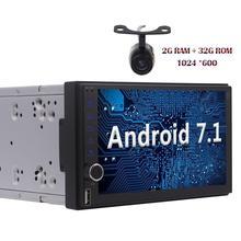 Android 7.1 2din Autoradio Octa-core Stereo HD Touchscreen GPS Sat Navi Bluetooth Radio USB/SD Camera FM WIFI 4G/3G Head Unit