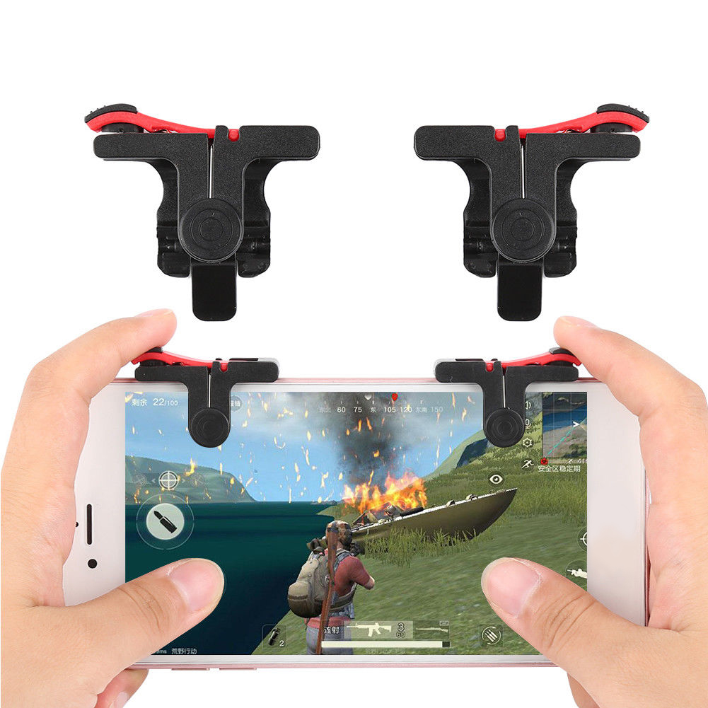 1 Pair Phone Games Accessories Cell Phone Gamepad Assist Controller Gaming Trigger Shooter For PUBG Rules of Survival image