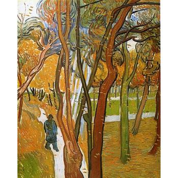 Landscapes art The Walk - Falling Leaves by Vincent Van Gogh oil paintings canvas High quality hand-painted