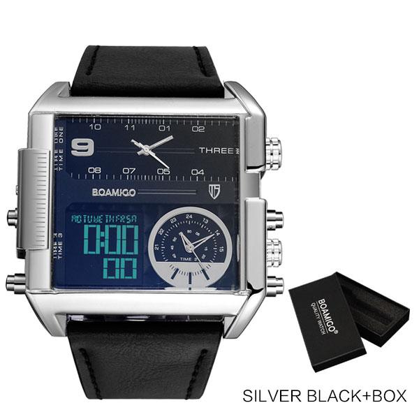 new silver black box