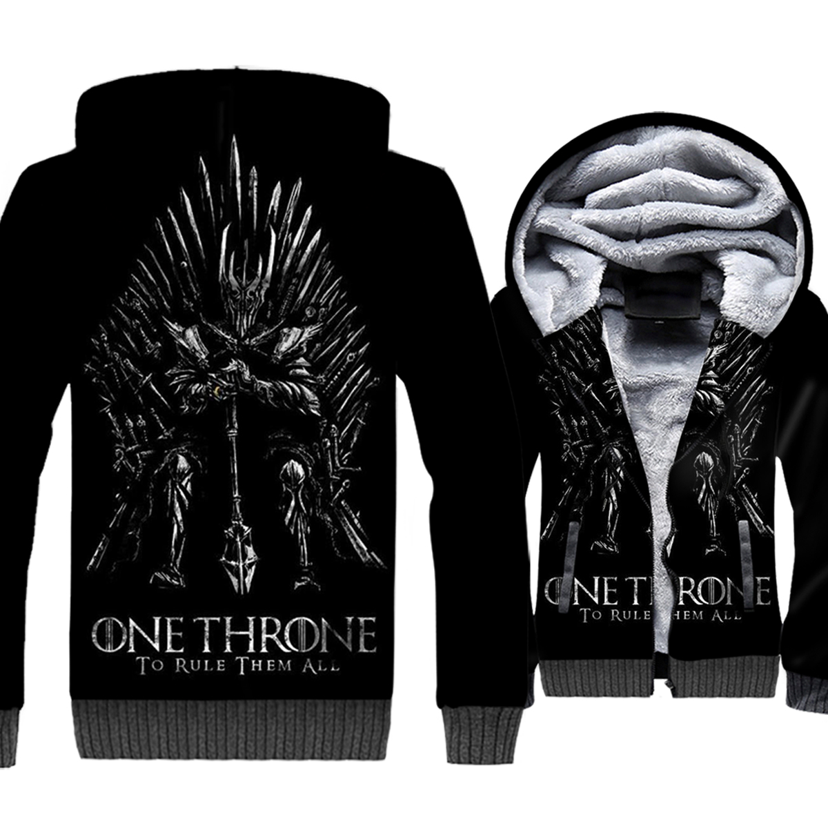 New Arrival Game Of Thrones Swatshirt Winter Thick Jacket Male Funny TV Series House Stark Targary Unisex Coat Warm Zipper Hoody in Hoodies amp Sweatshirts from Men 39 s Clothing