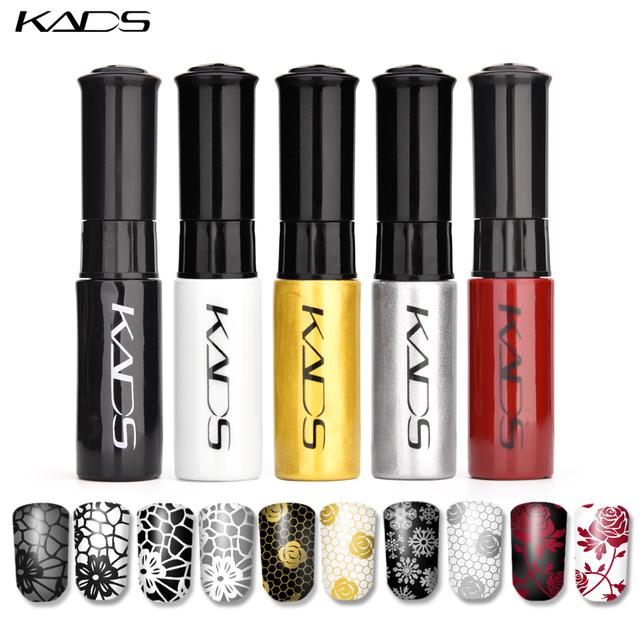 KADS Stamping nail polish Nail Lacquer 5 Bottle/LOT 5 Color Nail Art nail polish for plate Stamping Polish for stamping template