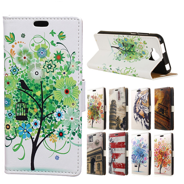 Luxury For Doogee X9 Pro/ X9 mini Painted Tiger Cat Tree Wallet Stand PU Leather Phone Cover Case Capa for Doogee X9Pro X9mini