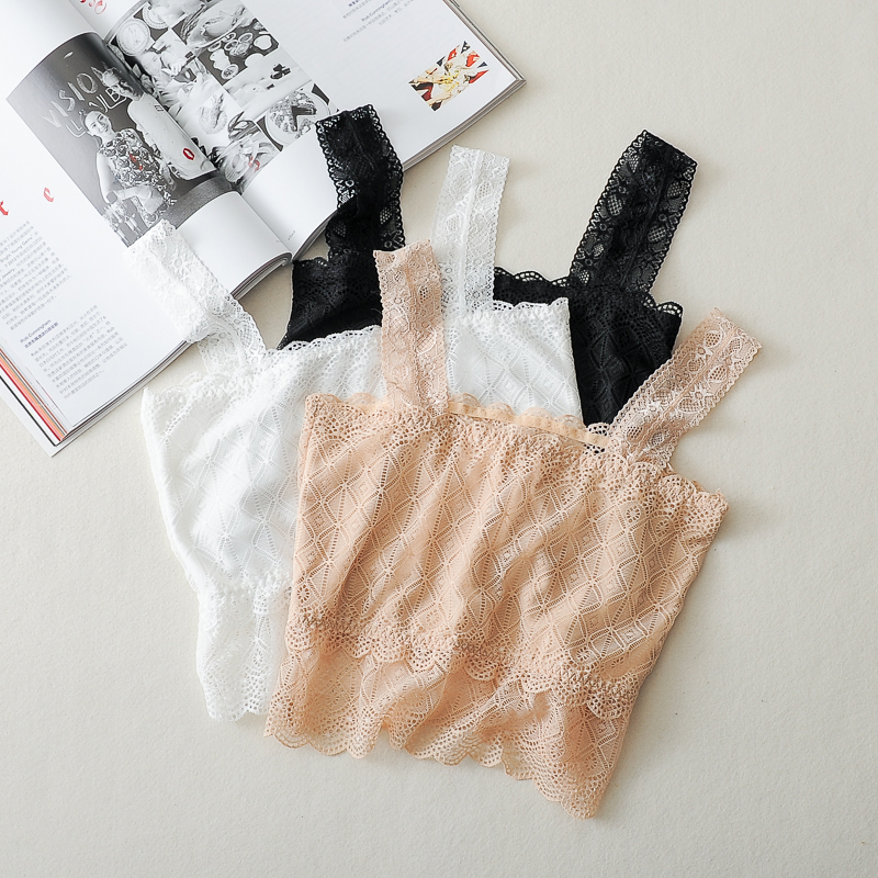 Women Camis   Tank     Tops   Summer Lace Stretch Vest Crop   Top   Casual Sexy Bottoming Tube   Tops   Sexy Crochet Cropped Blusas 0.05