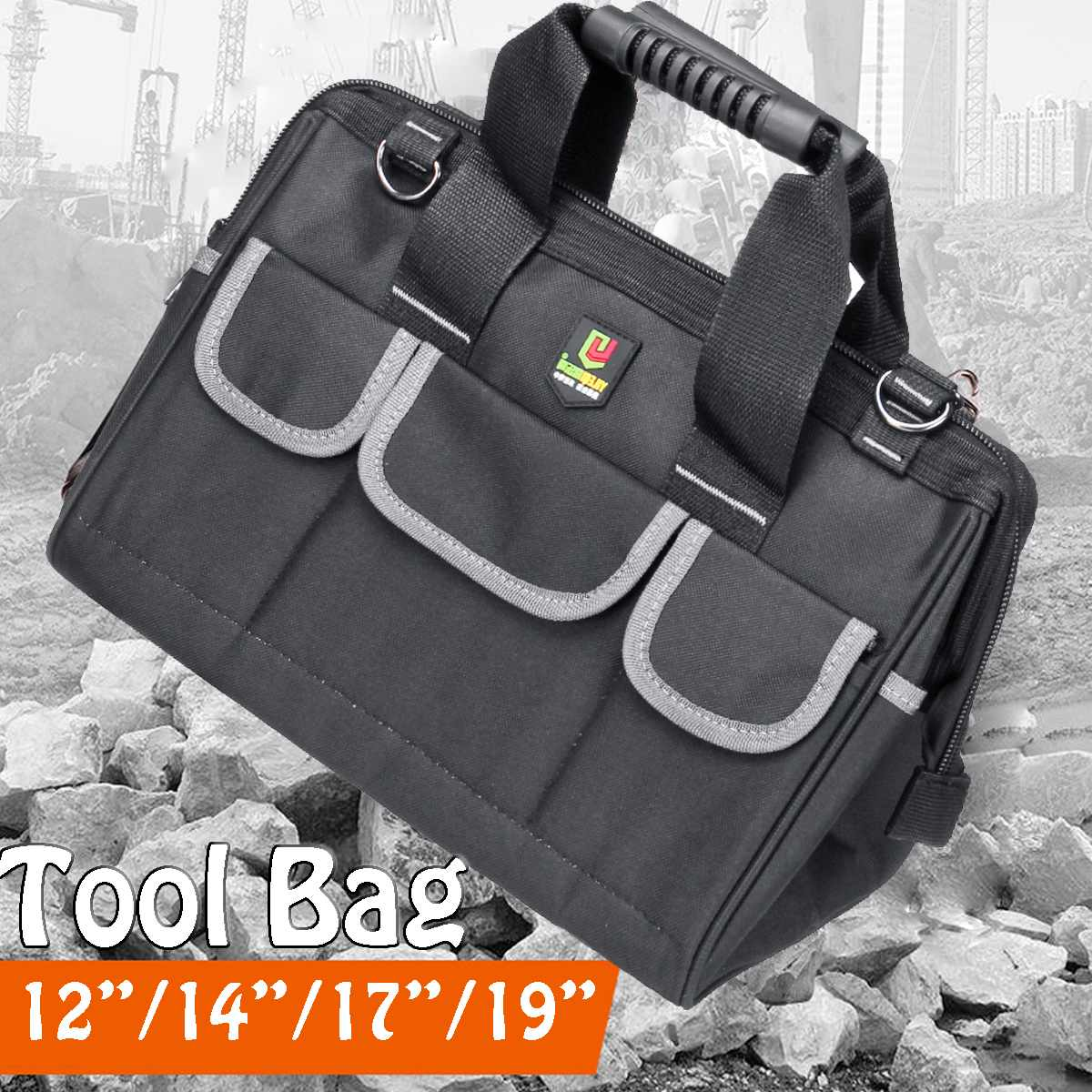 19 17 14 12inch Tool Bag Oxford Waterproof Hand Tool Storage Bag Electrician Bags Large Capacity Tool Organizer Pouch Bag Case