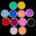 12 Цветов/set Ногтей Блеск Порошок Пыли Ногтя Совет Украшения, рок-кристаллический порошок ногтей, бесплатная Доставка