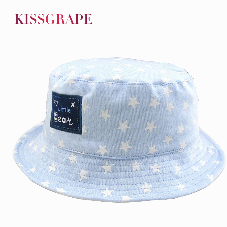 ef1b9cf85d9d Click here to Buy Now!! 2017 Kids Summer Sunhats with Stars Printed Design Boys  Girls Hats Panama Caps Cotton Outdoor Sun Hats Children