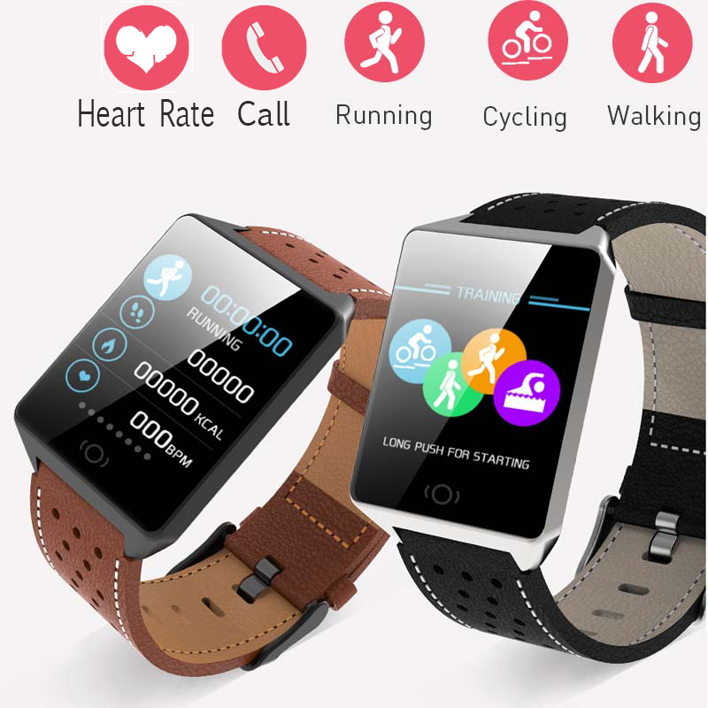 $32.99 Bluetooth Smart Watch CK19 Men Waterproof IP67 Sports Camera Call Leather Fitness Smart Watches Men Women For iPhone Android IOS