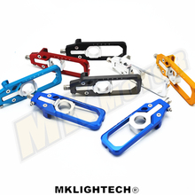 CNC Aluminum Left & Right Chain Adjusters with Spool Tensioners Catena For BMW S1000RR 2009 2010 2011 2012 2013 2014 2015 2016 waase cnc aluminum chain adjusters with spool tensioners catena for aprilia tuono v4 r v4r 1000 aprc 2012 2013 2014