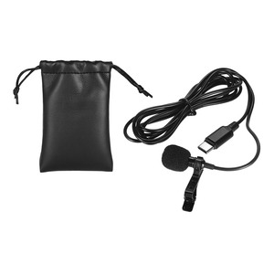 Image 5 - Mini Lapel Lavalier Clip on Condenser Microphone Mic with Type C Plug Wire System microphone for Android Smartphone