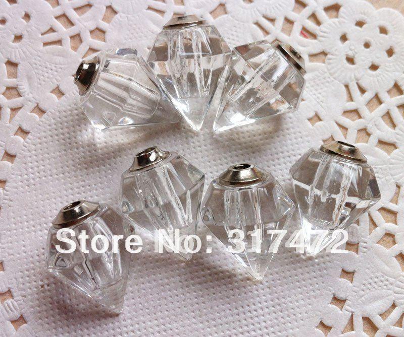 100 шт Белый Цвет Красивая форма флакон подвески, Ожерелье Подвески