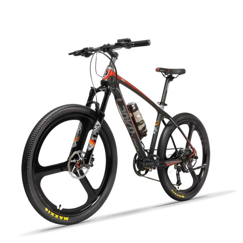 26 pouces puissance vélo électrique fibre de carbone montagne électrique ebike tout-terrain adulte batterie au lithium mâle VTT