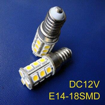 High quality 5050 12v E14 led lamps,18SMD 12vdc E14 led bulbs E14 led lights free shipping 20pcs/lot
