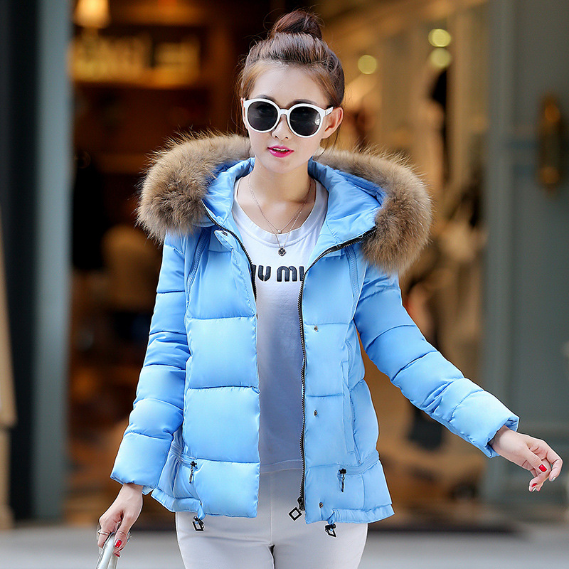 M-3XL free shipping plus size 2015 winter jacket women new Korean womens cotton parka short coat padded jackets manteau femme