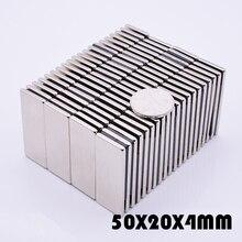 2Pcs 50x20x4 mm neodymium magnet strong magnets N35 for crafts gallium metal 50*20*4  Electromagnet