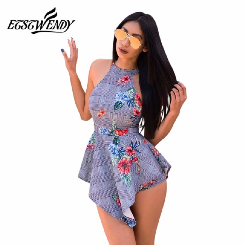 2019 Casual Playsuit Summer women Beach Jumpsuit skinny sexy