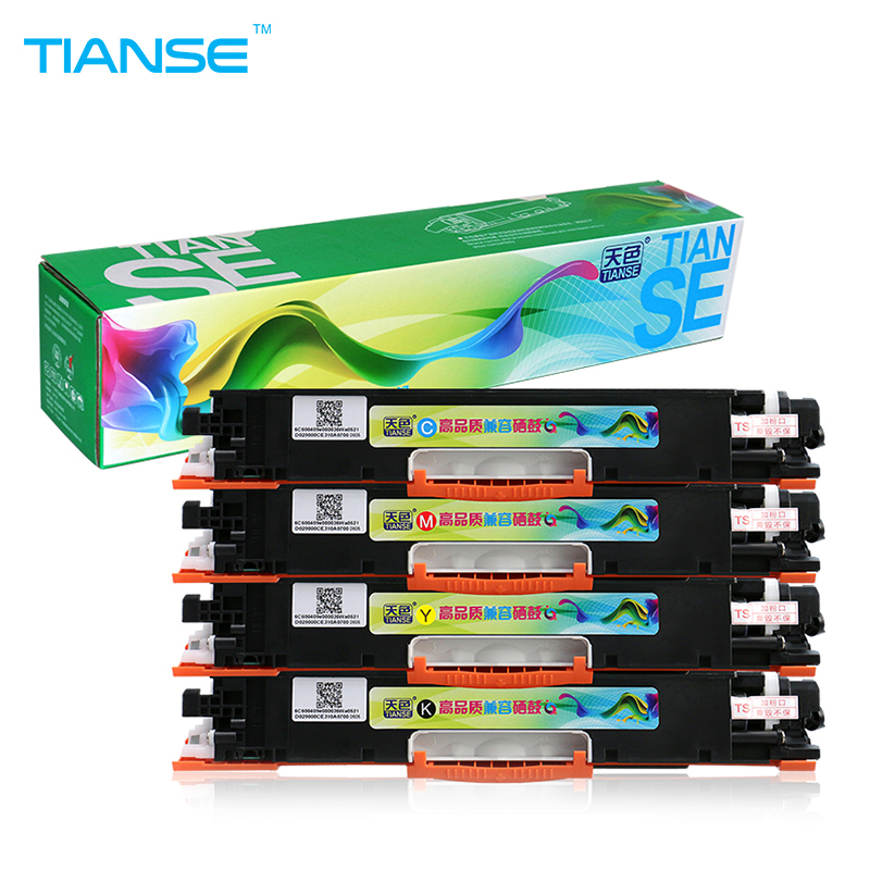 TIANSE for HP126A for HP 126A CE310A CE311A CE312A CE313A toner cartridge For HP LaserJet Pro CP1025 1025nw M275mfp M175a M175nw 4pk ce310a ce311a ce312a ce313a compatible color toner cartridge 126a for hp laserjet cp1025 cp1025nw m275mfp m175a m175nw
