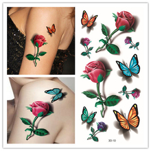 Sexy 3D Waterproof Temporary Tattoo Women, Colored Bow Pattern Series, A One-time Body Painting Water Transfer Tattoos Stickers