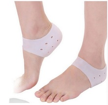 1 Pair Delicate Silicone Moisturizing Gel Heel Socks Like Cracked Foot Skin Care Protector with breathing hole