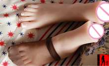 Newest silicone girls  gymnast foot feet pointed toes fetish toys model dolls with vigina