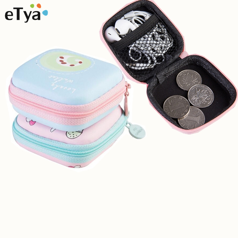 ETya Travel Electronic Phone Data Cuble SD Card USB Cable Earphone Phone Charger Accessories Bags Box Pouch
