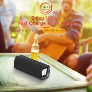 Image 4 - HAVIT 휴대용 블루투스 스피커 야외 서브 우퍼 3D 스테레오 라우드 스피커 마이크가있는 무선 스피커 마이크 SD 카드 AUX M16