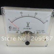 Для детей, на возраст от 0 до 30V DC 85C1 Аналоговый Вольт Напряжение Панель вольтметр