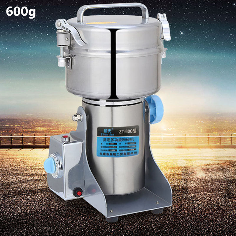 Newest 600g Electric Herbal Powder Mill Dry Food Grinder Crusher Machine Swing Type Mills For Coffee Cocoa bean Spices Cereals dry food grinder machine swing type electric grains herbal powder miller high speed spices cereals crusher w ce ccc