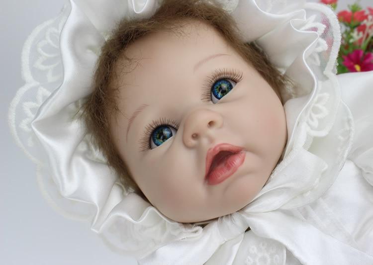 22 Quot 55cm Silicone Reborn Babies Dolls Hite Princess Dress