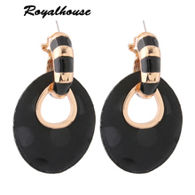 Royalhouse leather Earrings Alloy for woman charm Dangle Brinco Christmas Ear Accessories big earrings