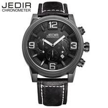 Relogio Masculino JEDIR Марка Мужчины Часы Мода Повседневная Часы Мужчины Натуральная Кожа Хронограф Кварцевые Наручные Часы Montre Homme