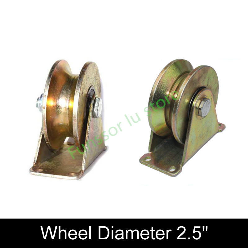 Steady Bearing 300kg,2.5 Inch Cast Steel Track Wheel,with Bearing,stable,durablefor Sliding Door/ Lifting Pulley,industrial Hardware Sales Of Quality Assurance
