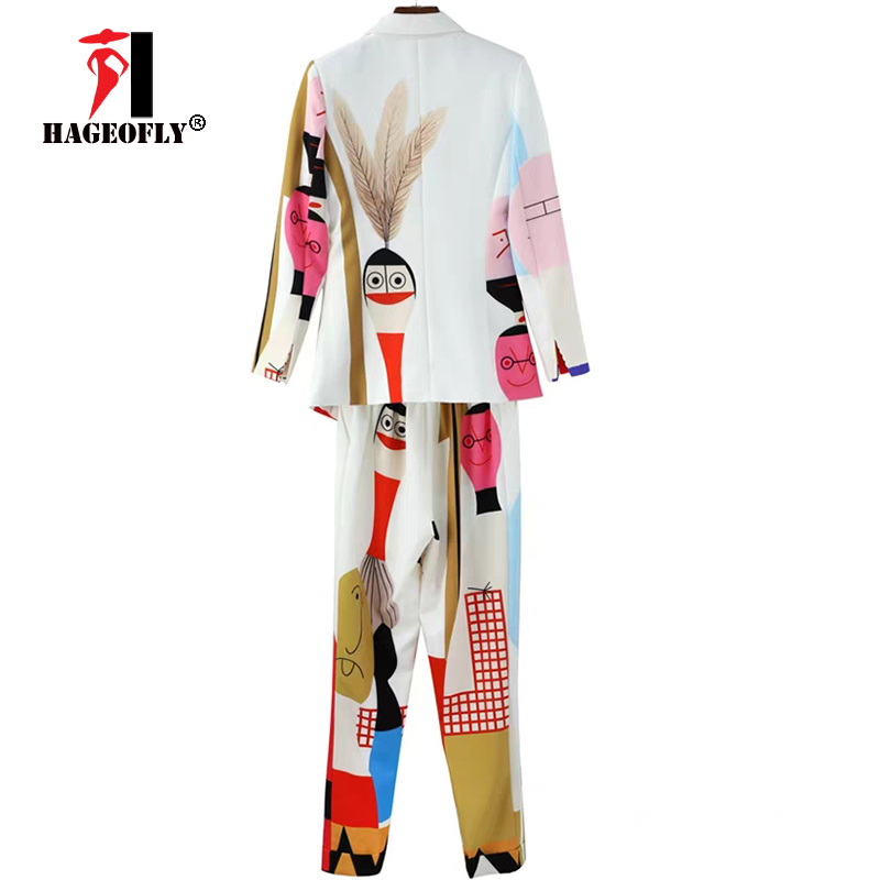 Image 5 - New Designer High Quality Runway White Two piece Suit One Button 