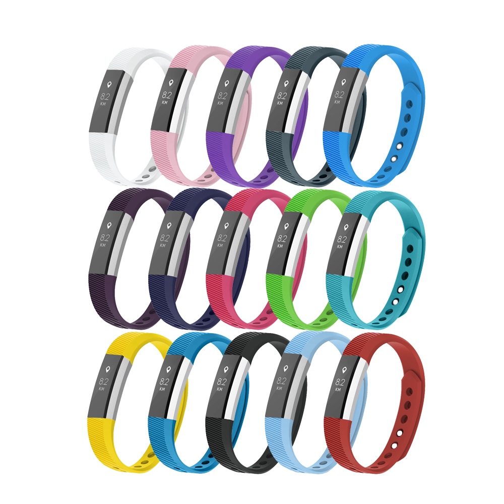 TPU Soft Silicone Strap för Fitbit Alta HR Replacement Band Armband Armband Watch Tillbehör