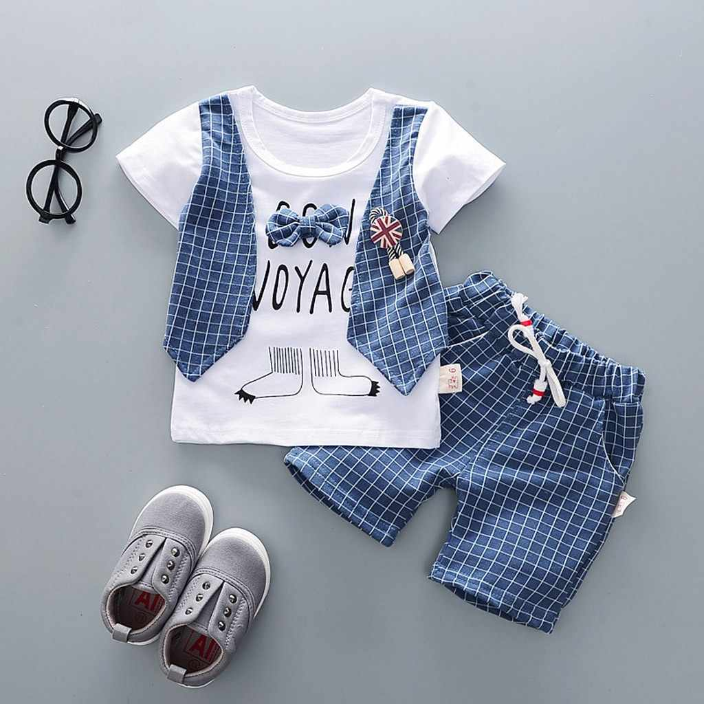 Toddler Baby Boys Gentleman Bow T-shirt Tops Shorts Pants Outfits Clothes Set boys clothes kids sets