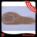 быстрая поставка 12-дюймовый шелк прямые волосы оплетки блондинка кружева закрытия на складе