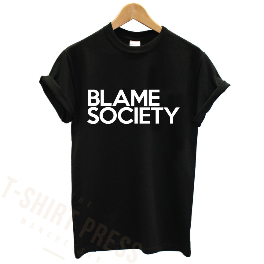 BLAME SOCIETY PRINTED MENS T SHIRT JAY Z RAP FAMOUS CELEBRITY SWAG VIP PRINT TEE TShirt Tee Shirt Unisex More Size and Colo-A191 image